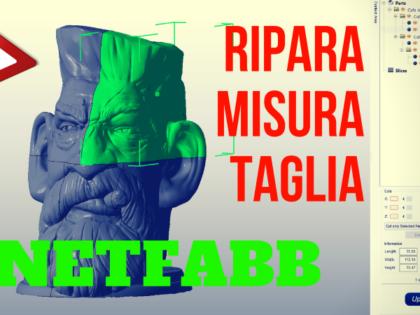 Ripara – Misura – Taglia files STL con Netfabb