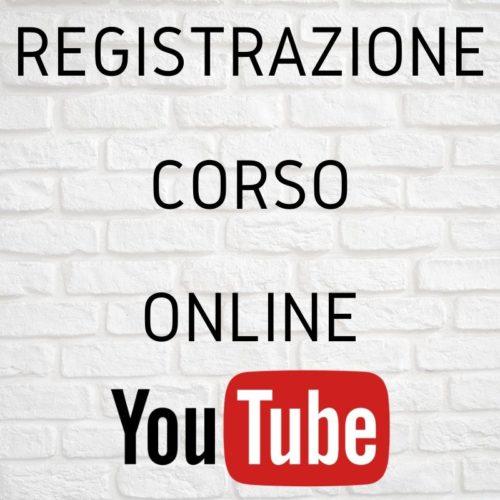 Registrazione corso online