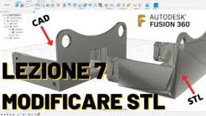 Come modificare file STL Fusion 360